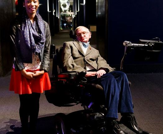 Adaeze Uyanwah and Stephen Hawking