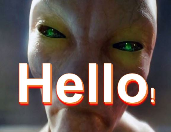 Aliens responding to our message