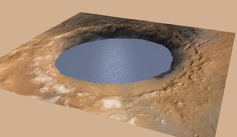 Mars lake