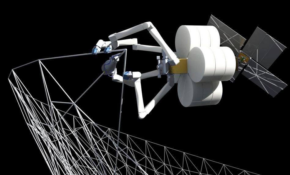 Robot spider building structures