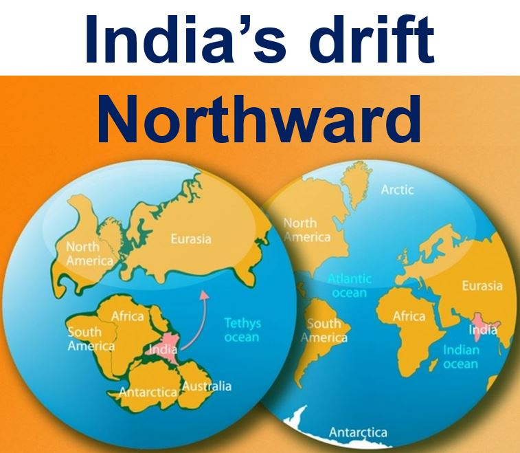 India drift northward