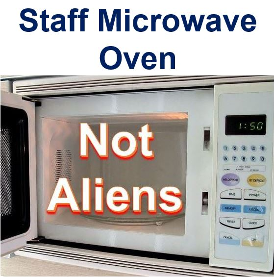 Staff microwave oven