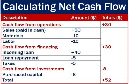 Calculating net cash flow - image