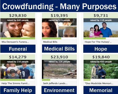Crowdfunding has many purposes