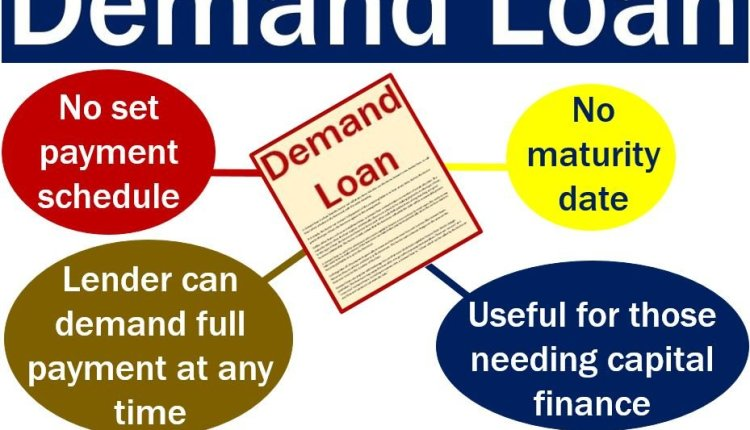 Demand loan – image with some features and explanation