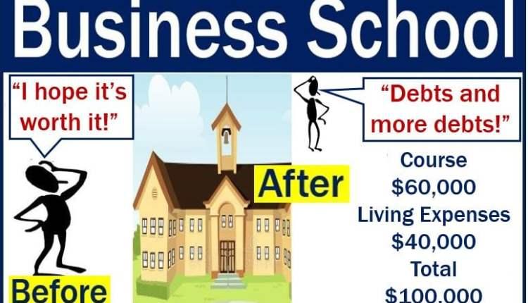 Business school - debts and more debts