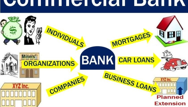 Commercial bank - accepts deposits and issues loans