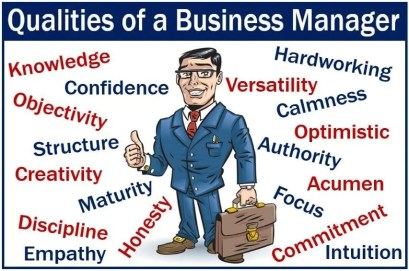 Qualities of a Business Manager - image with man