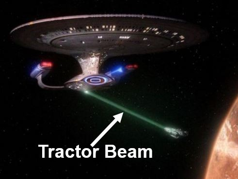 Star Trek tractor beam