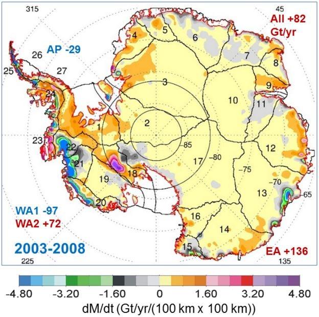 Antarctic Ice Mass Gain