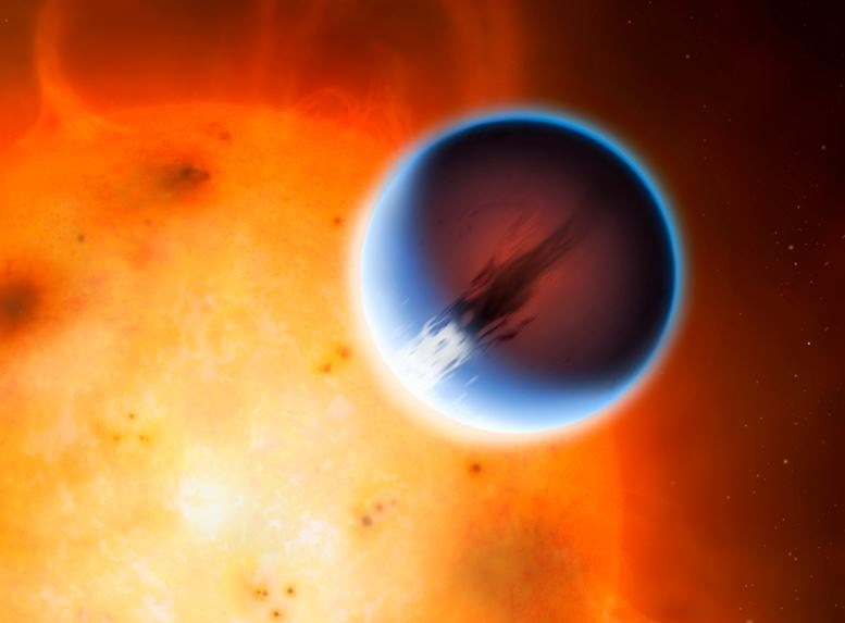 Exoplanet with ultra fast winds