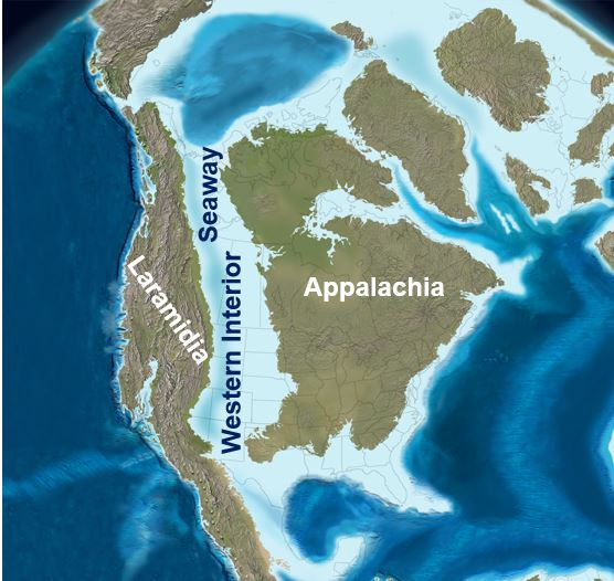 North America in the Late Cretaceous period