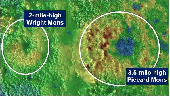 Two ice volcanoes on Pluto