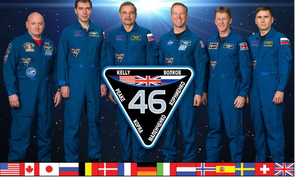 Crew aboard ISS