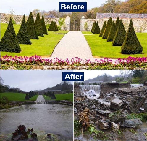 Plas Cadnant Before and After