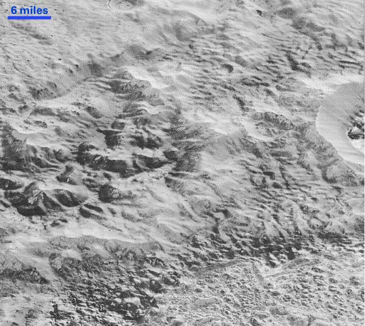 Pluto badlands