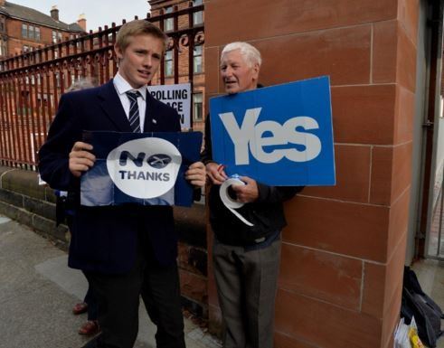 Scottish independence referendum versus European referendum age