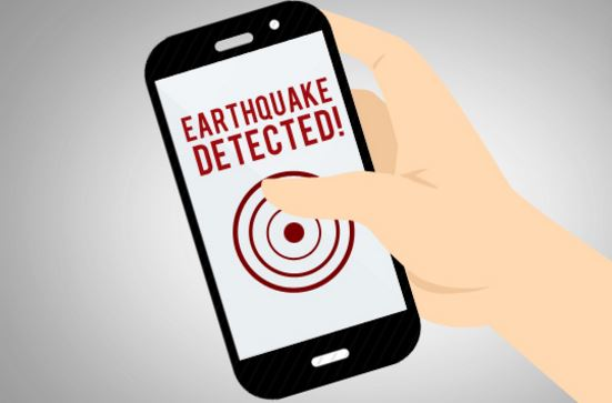 Smartphone earthquake warning app