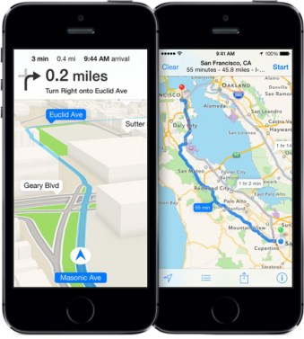 maps apple iphone