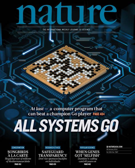 AlphaGo on front cover of Nature