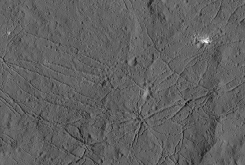 Floor of Dantu crater on Ceres dwarf planet