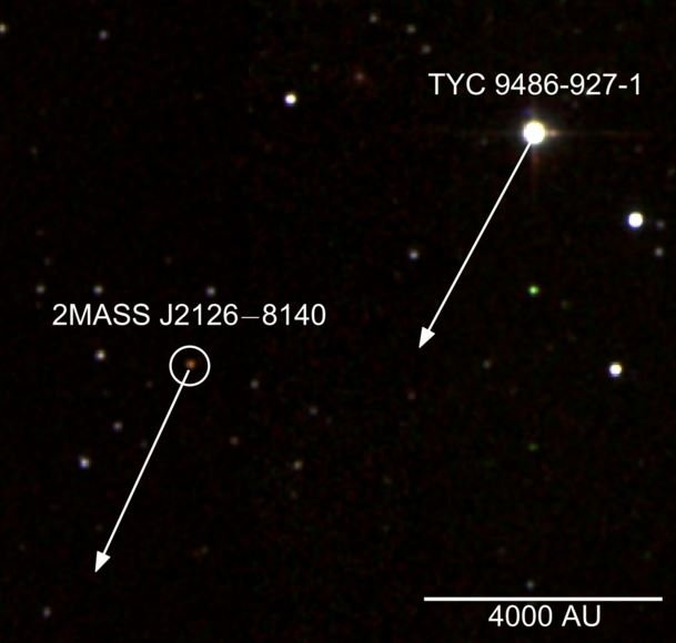 Planet 1 trillion km from its star