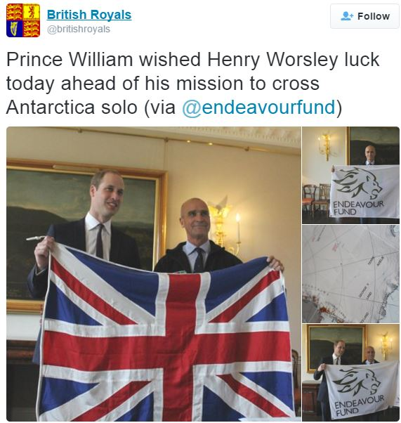 Prince William and Henry Worsley