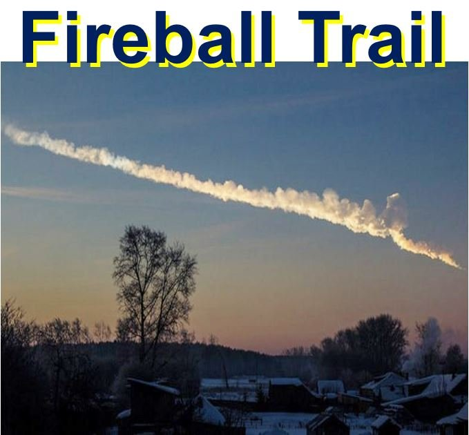 Fireball trail