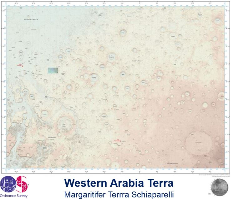 Map of Mars Ordnance Survey