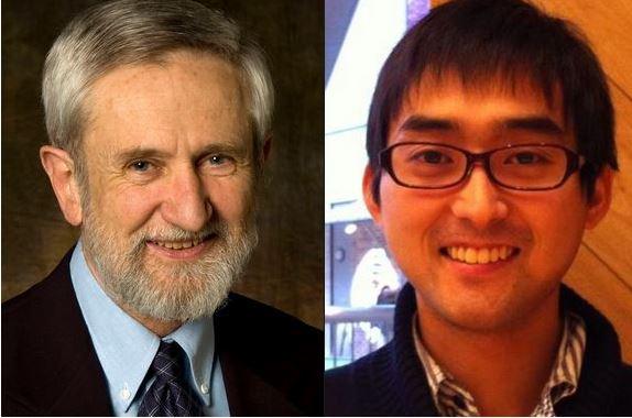 Prof Wallace and Tsubasa Kohyama