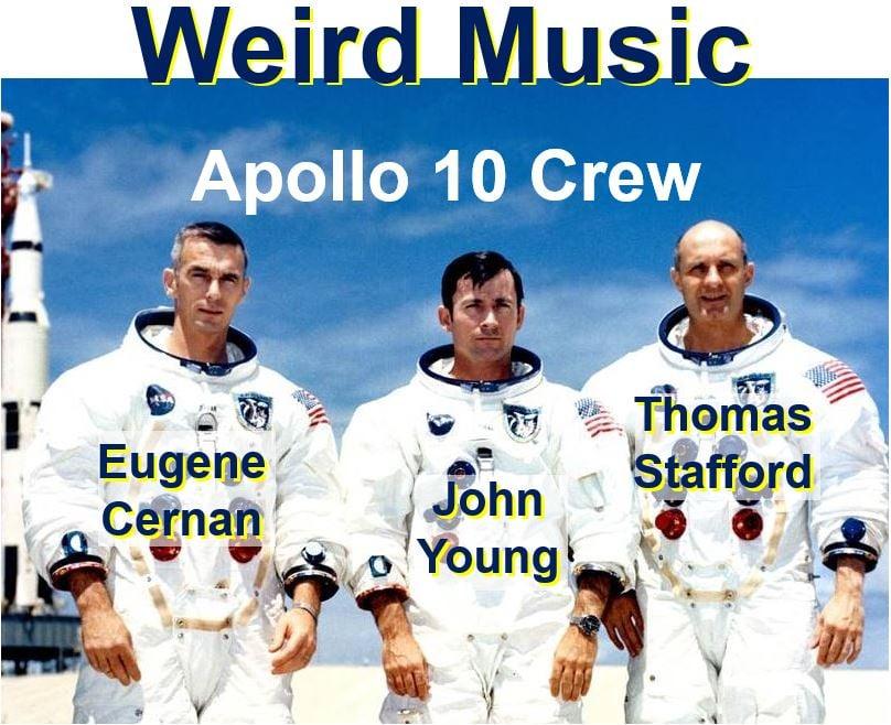 Space music heard by Apollo 10 crew