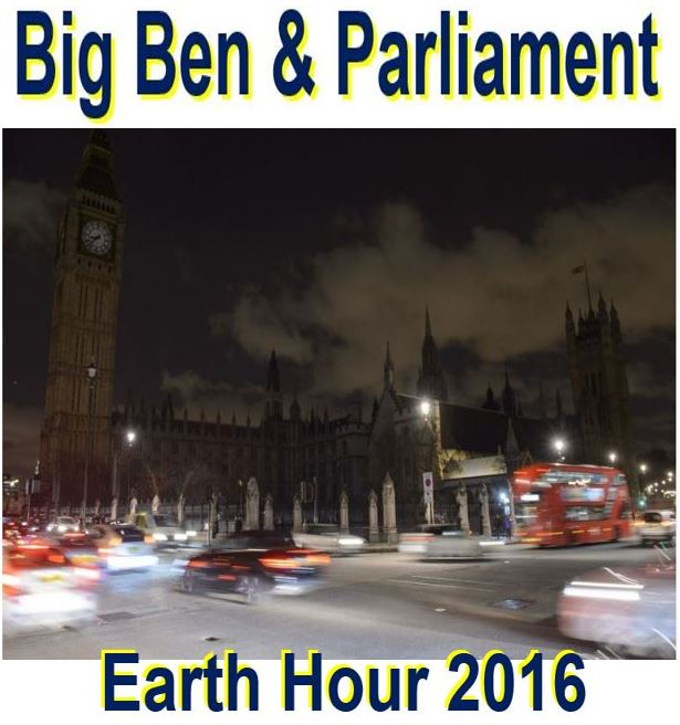 Earth Hour Big Ben and Parliament dark