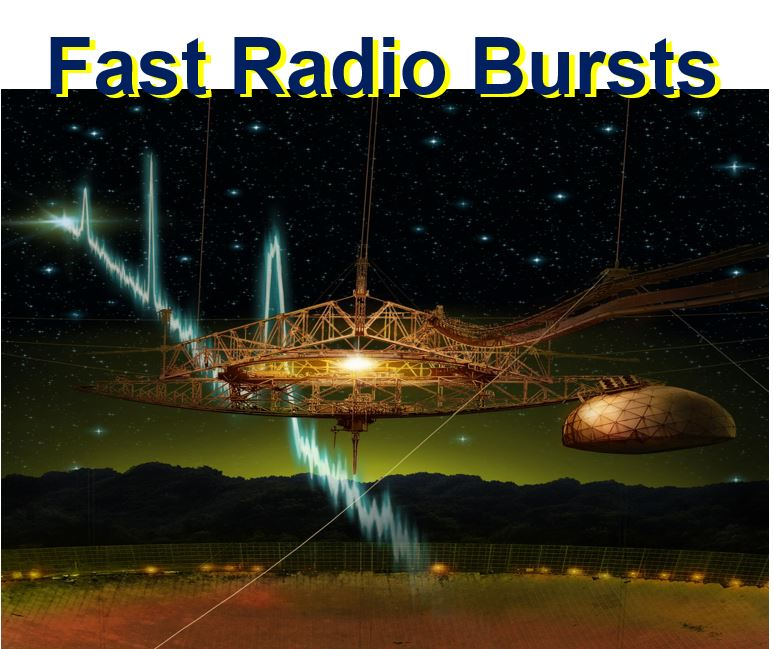 Fast radio bursts artist impression