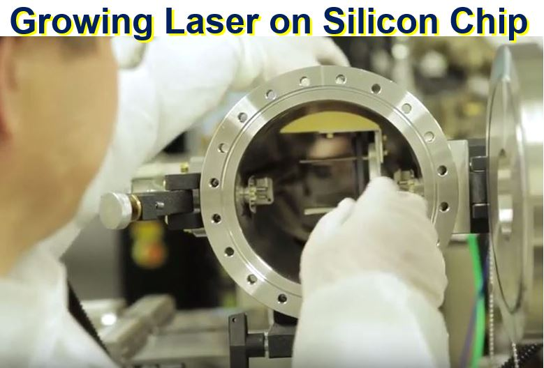 Growing a laser on a single silicon chip