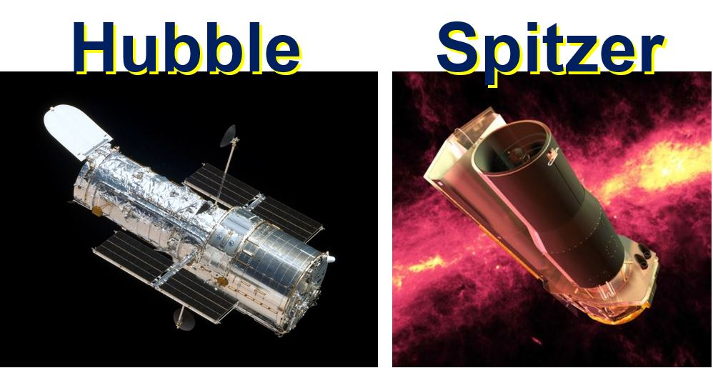 Hubble and Spitzer space telescopes