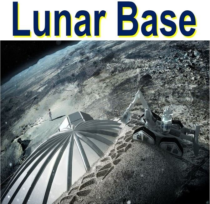 Lunar Base for a human colony on the Moon