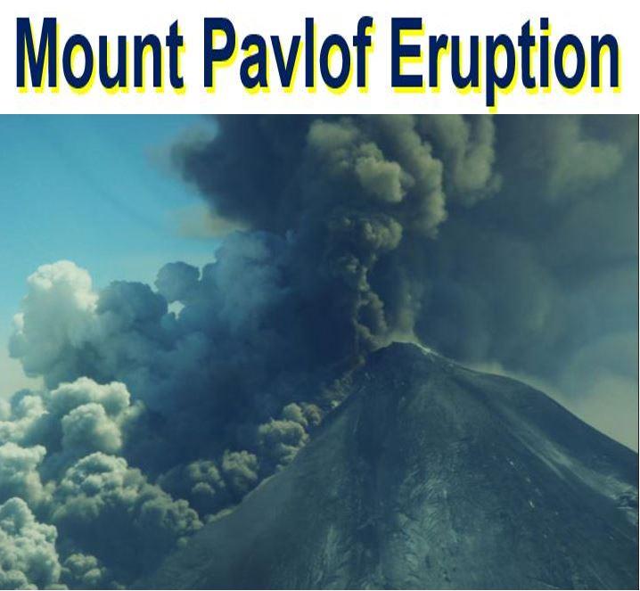 Pavlof Volcano Erupting spewing ash