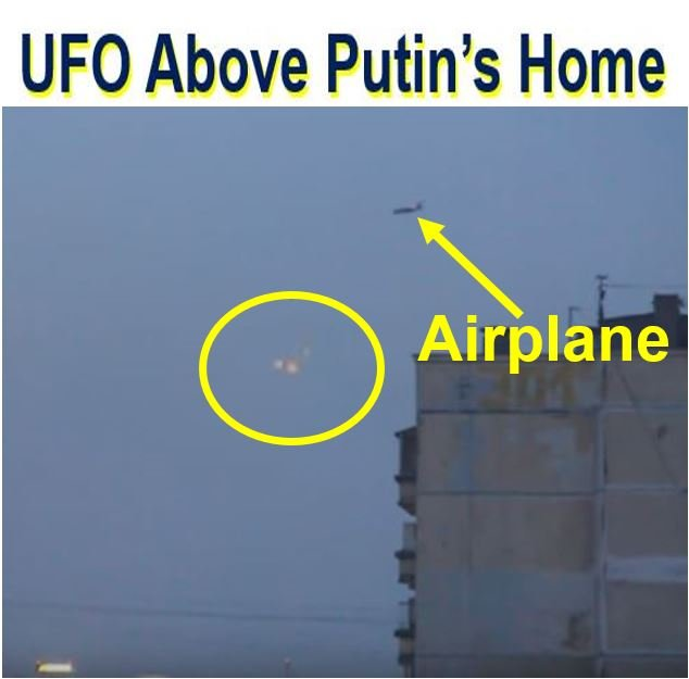 UFO seen floating above home of Vladimir Putin