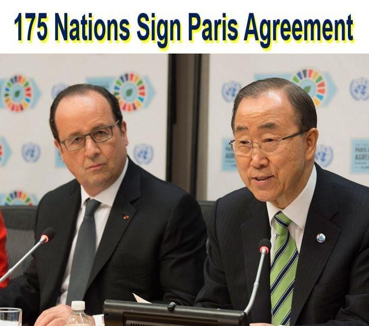 175 nations sign Paris Agreement