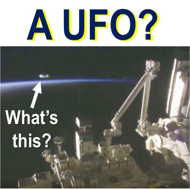 Amazing UFO near ISS