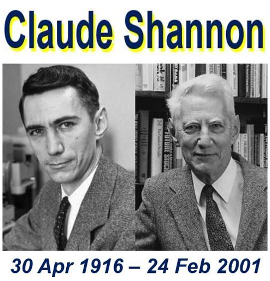 Claude Shannon 100 birthday today