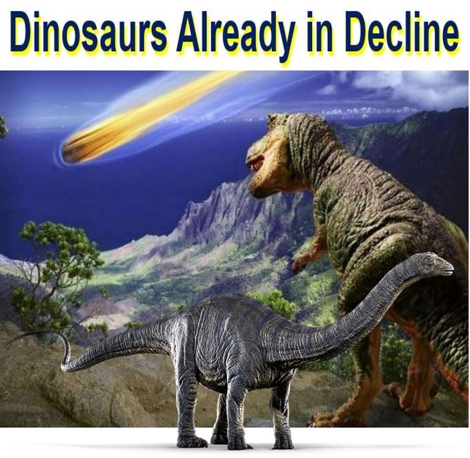 Dinosaurs already in decline