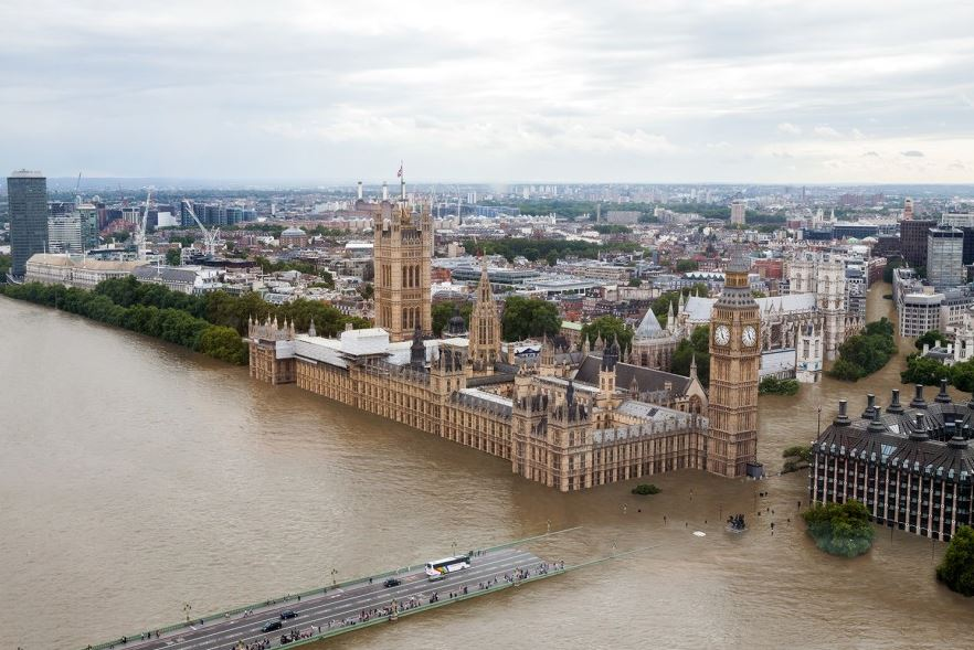 London 20 foot sea level rise