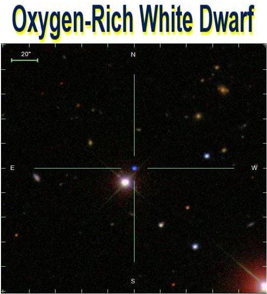 Oxygen rich white dwarf