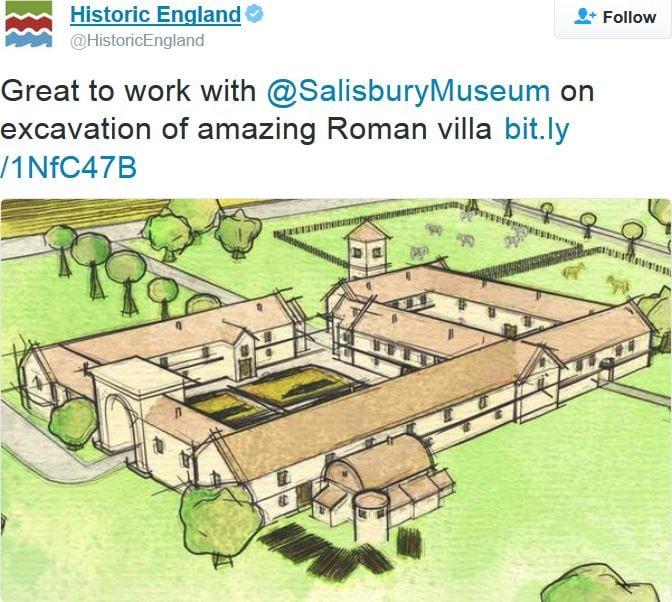 Roman Villa discovered in garden in Wiltshire