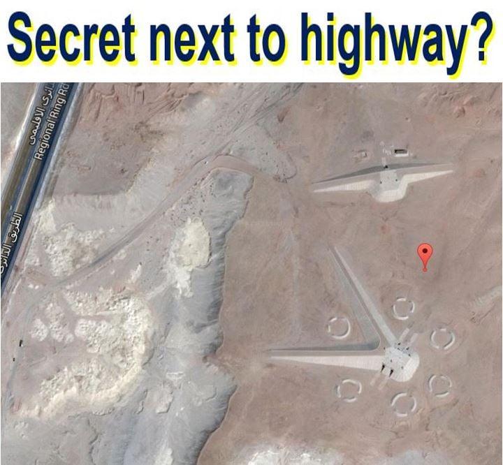 Secret next to highway
