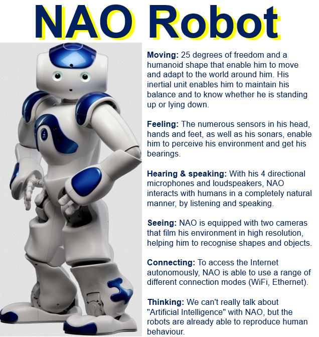 Touching robot NAO used in latest arousal experiment