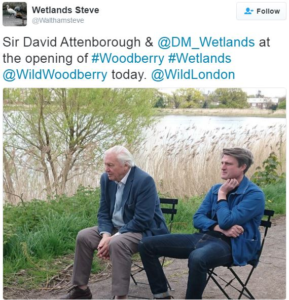Attenborough opening Woodberry Wetlands