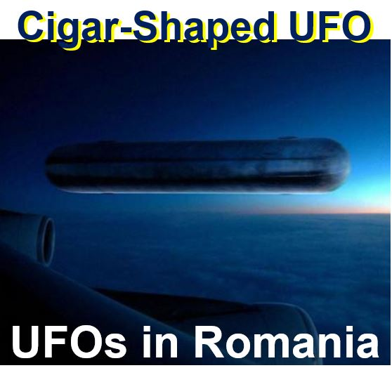 Cigar shaped UFO in Romania
