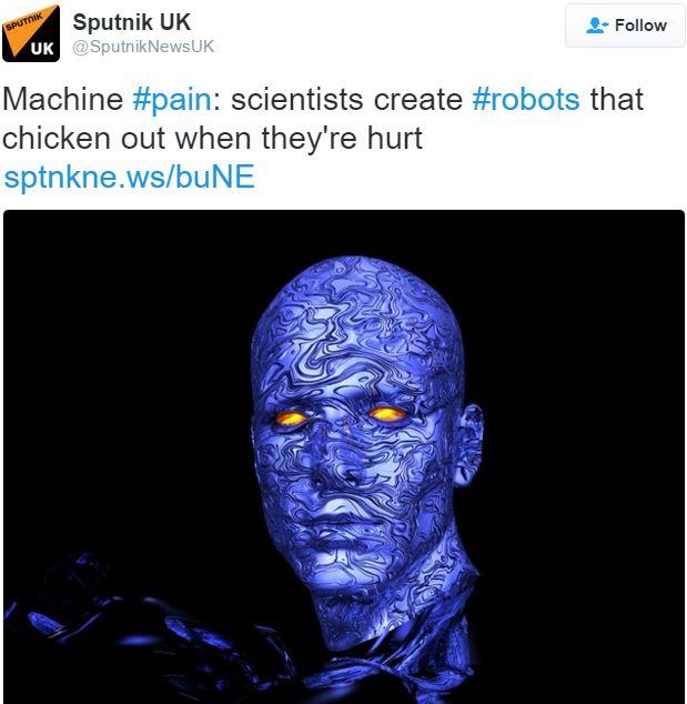 Robot feels pain